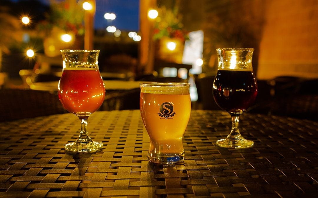 Picture of 3 beers in glasses from Satire Brewing Company