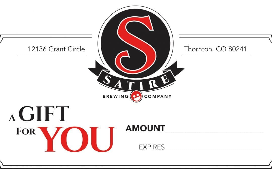 Satire Brewing Company Gift Certificates