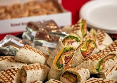 Assorted lunch sandwiches. Denver catering photography