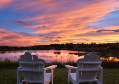 Sunset photo at Blue Lake Ranch. Custom Denver business photography.
