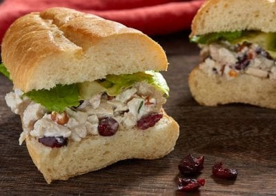 Pecan Cran Chicken sandwich.
