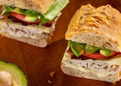 Food photography. Turkey sandwich.