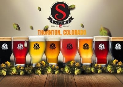 Satire Brewing Company - Beer Lineup Branding