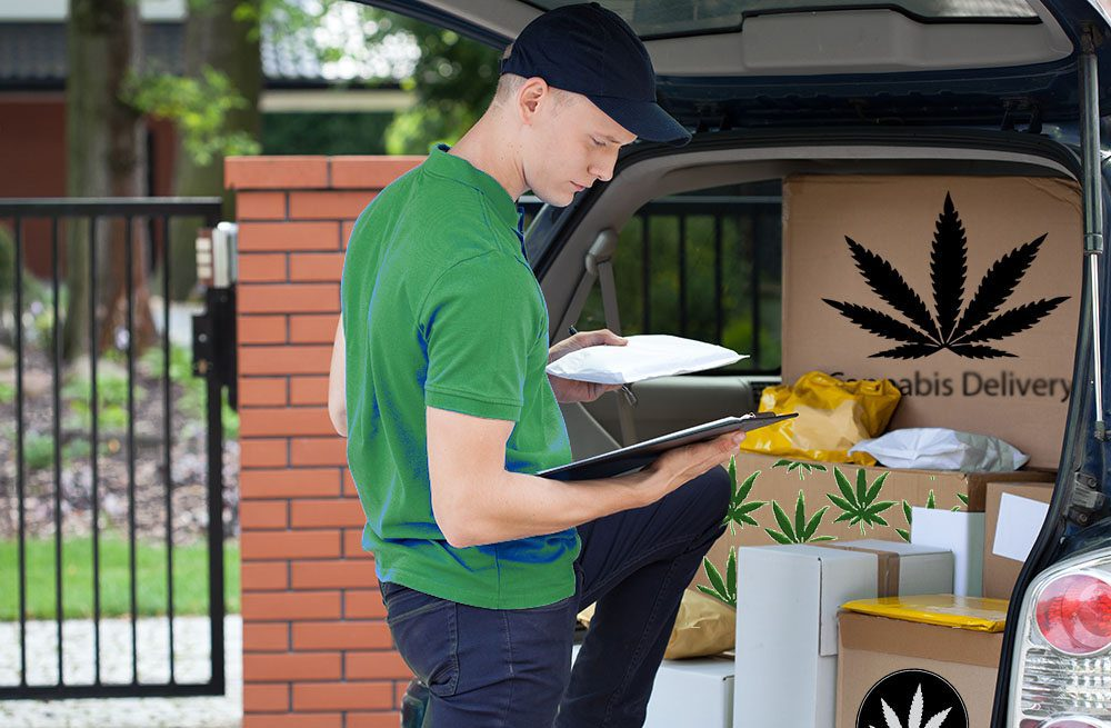 Cannabis Delivery Man & Car
