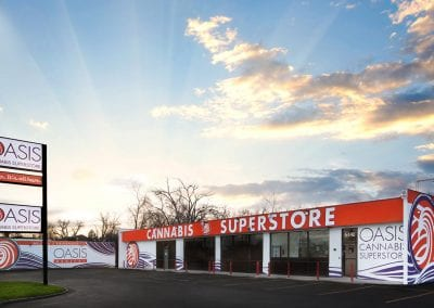 Digital 303 Cannabis Business Photography: Marijuana Photography, Oasis Cannabis Superstore Exterior