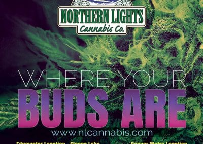 Digital 303 Custom Cannabis Advertising: Northern Lights Cannabis Co ad.