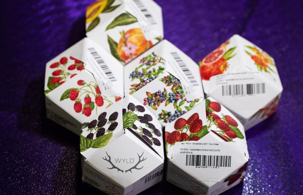 Wyld berry gummmies in cool small boxes- Oasis Superstore Denver