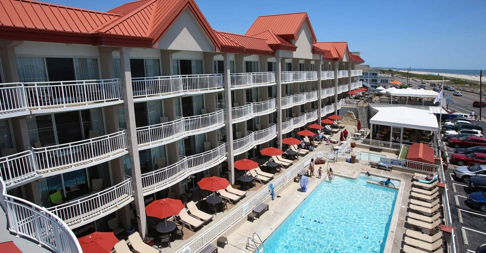 Montreal Beach Resort Pool- Cape May Hotels