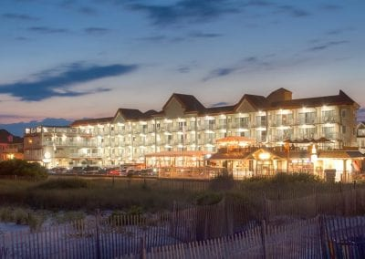 Cape May Hotel The Montreal Beach Resort at dusk