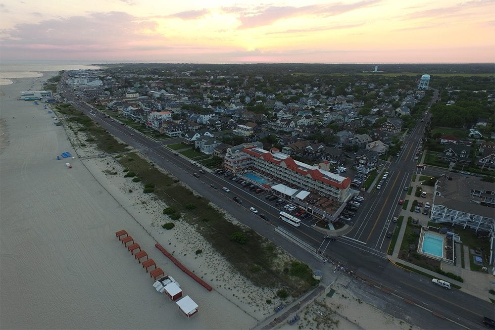 Aerial view of Cape May and Montreal Beach Resort