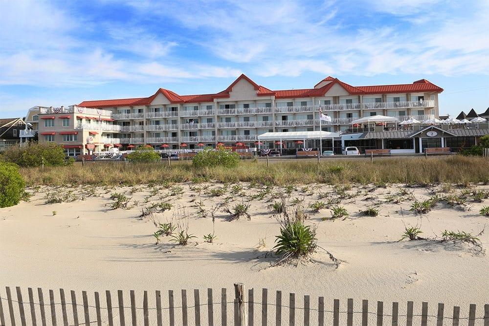View of outside of Montreal Beach Resort Cape May