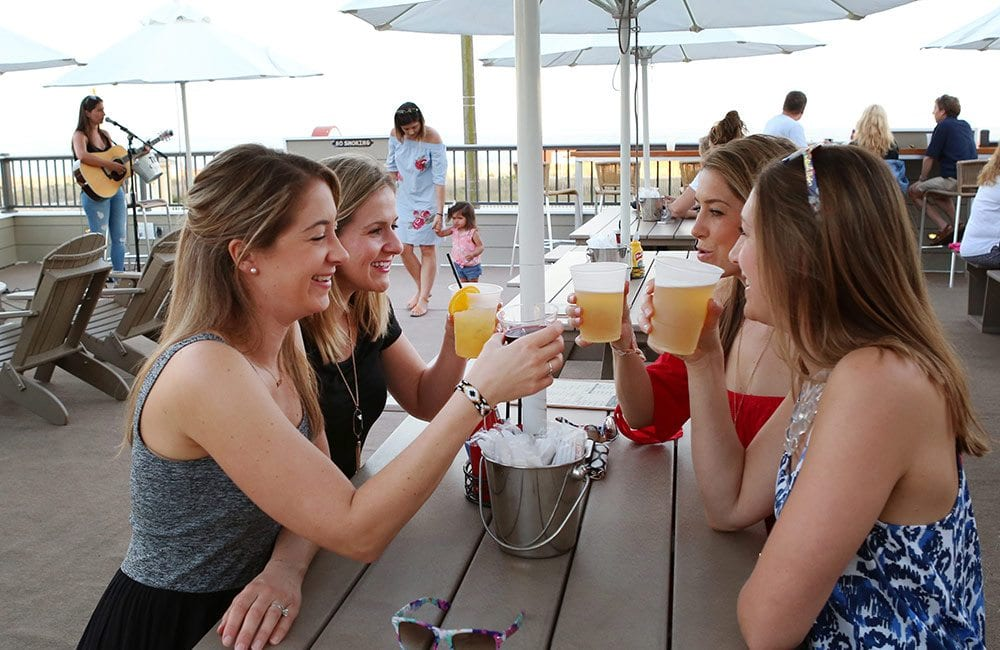 Women Drinking at Happy Hour at Harry's of Cape May.