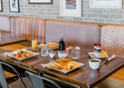 Breakfast entrees at Harrys Ocean Bar & Grille