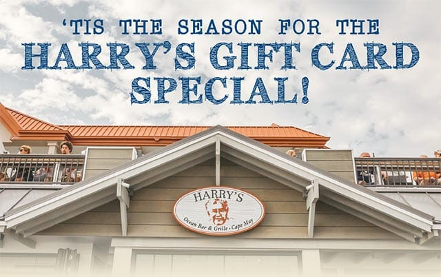Harry's gift card special banner