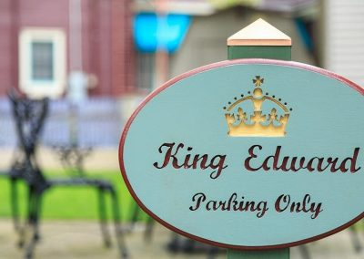 """King Edward Parking Only"" oval sign"