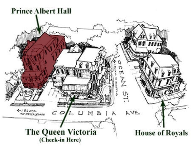The Queen Victoria Buildings - Prince Albert Hall