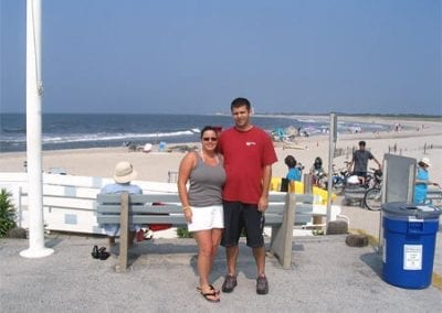 Guest Photos- Couple standing next to beach in Cape May