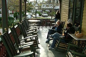 Guest Photos- Rocking chairs on porch of Queen Victoria Bnb