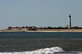 Cape May Nature- view of Cape May Lighthouse and ocean.